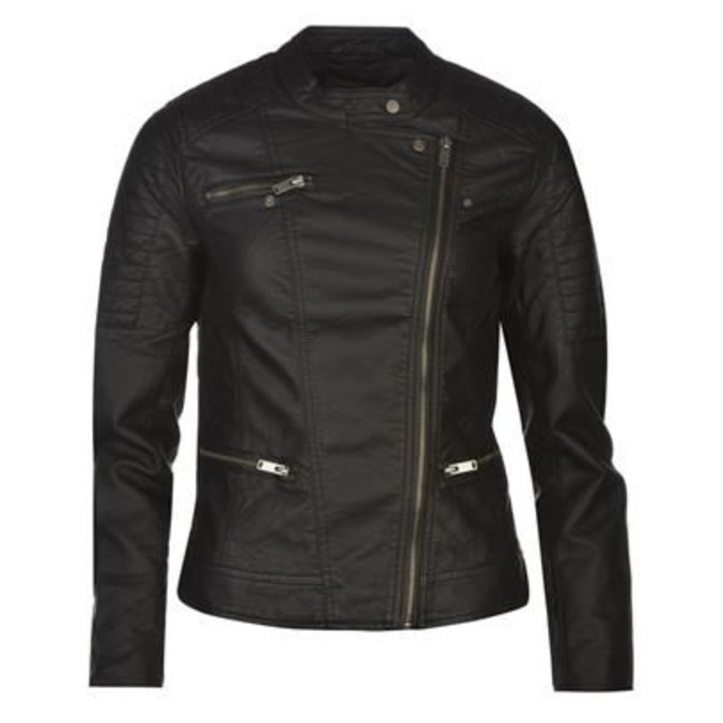 Only Start PU Biker Jacket