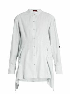 Sies Marjan - Ruffled Cotton-seersucker Shirt - Womens - Light Blue