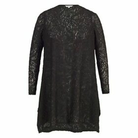 Chesca Scallop Lace Shrug, Black