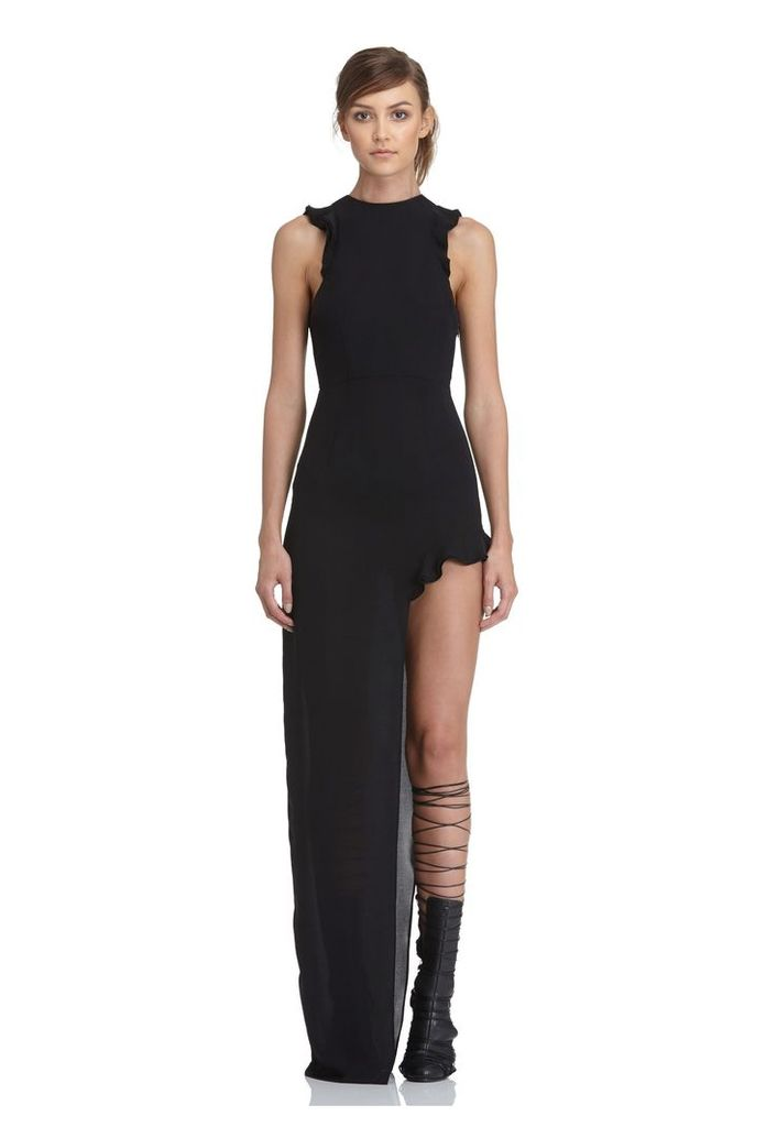 Juan High Split Maxi Dress - Black