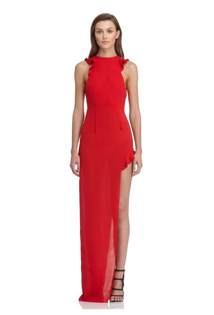 Juan High Split Maxi Dress - Red