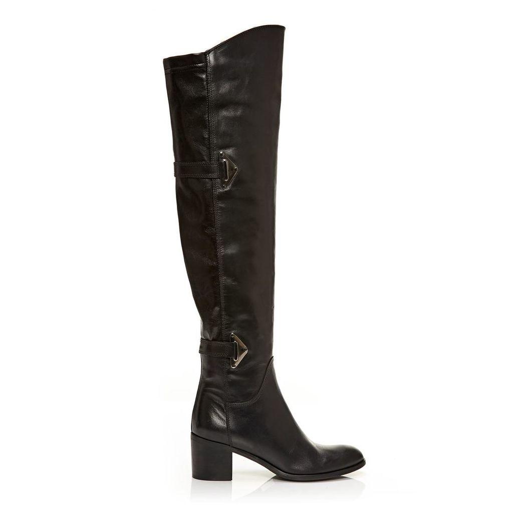 Moda in Pelle Saneti Black Medium Smart Long Boots