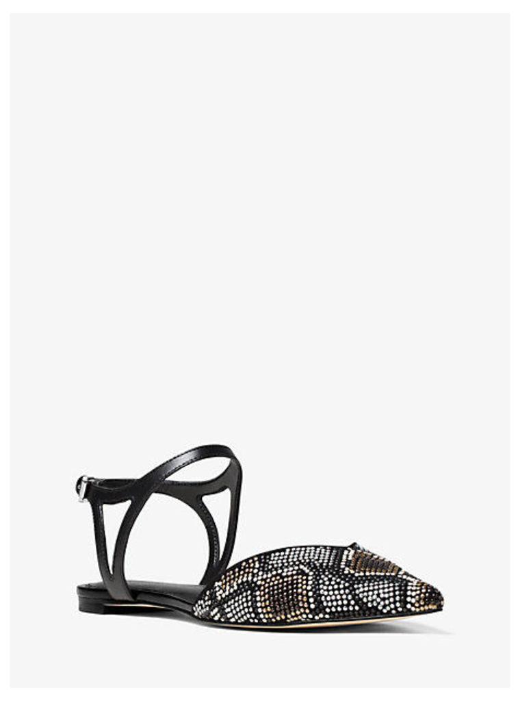 Ciara Embellished Suede Flat