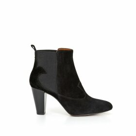 DAISY High-Heeled Leather Ankle Boots