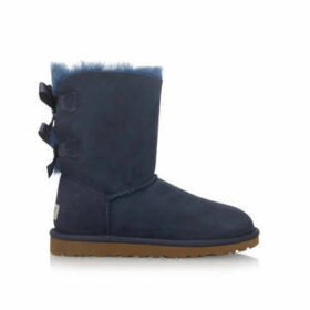 Womens Bailey Bow Boots Ugg Navy Suede, 5 UK