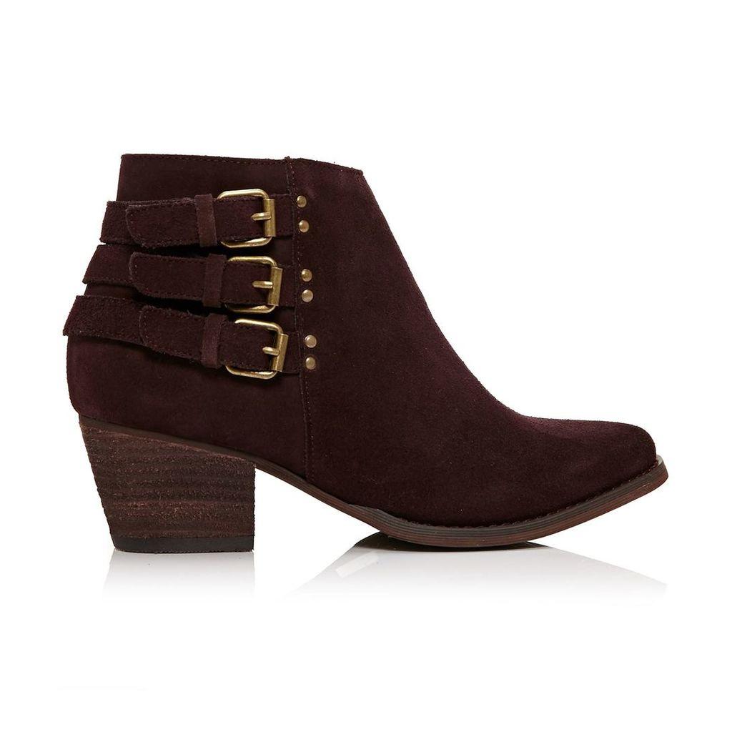 Moda in Pelle Bertina Burgundy Medium Casual Short Boots