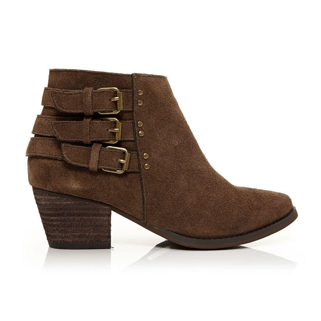 Moda in Pelle Bertina Beige Medium Casual Short Boots