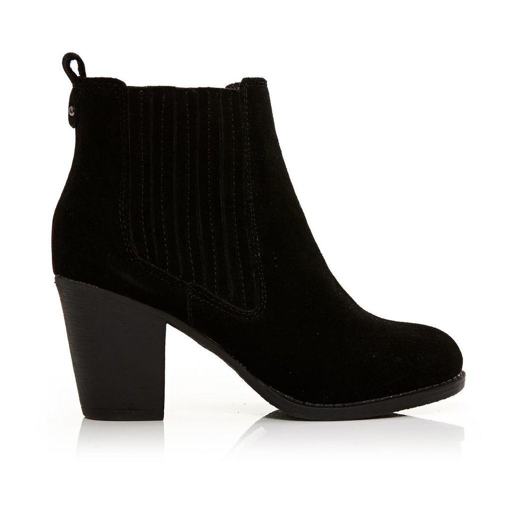 Moda in Pelle Bencio Black Medium Casual Short Boots