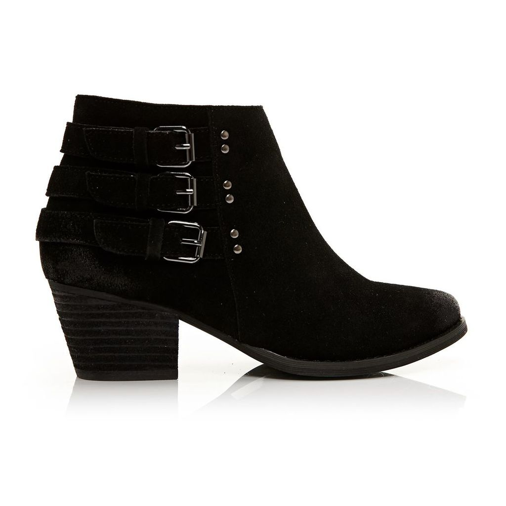 Moda in Pelle Bertina Black Medium Casual Short Boots