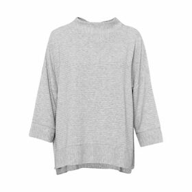 French Connection Sudan Ribbed Marl Jersey Top, Grey