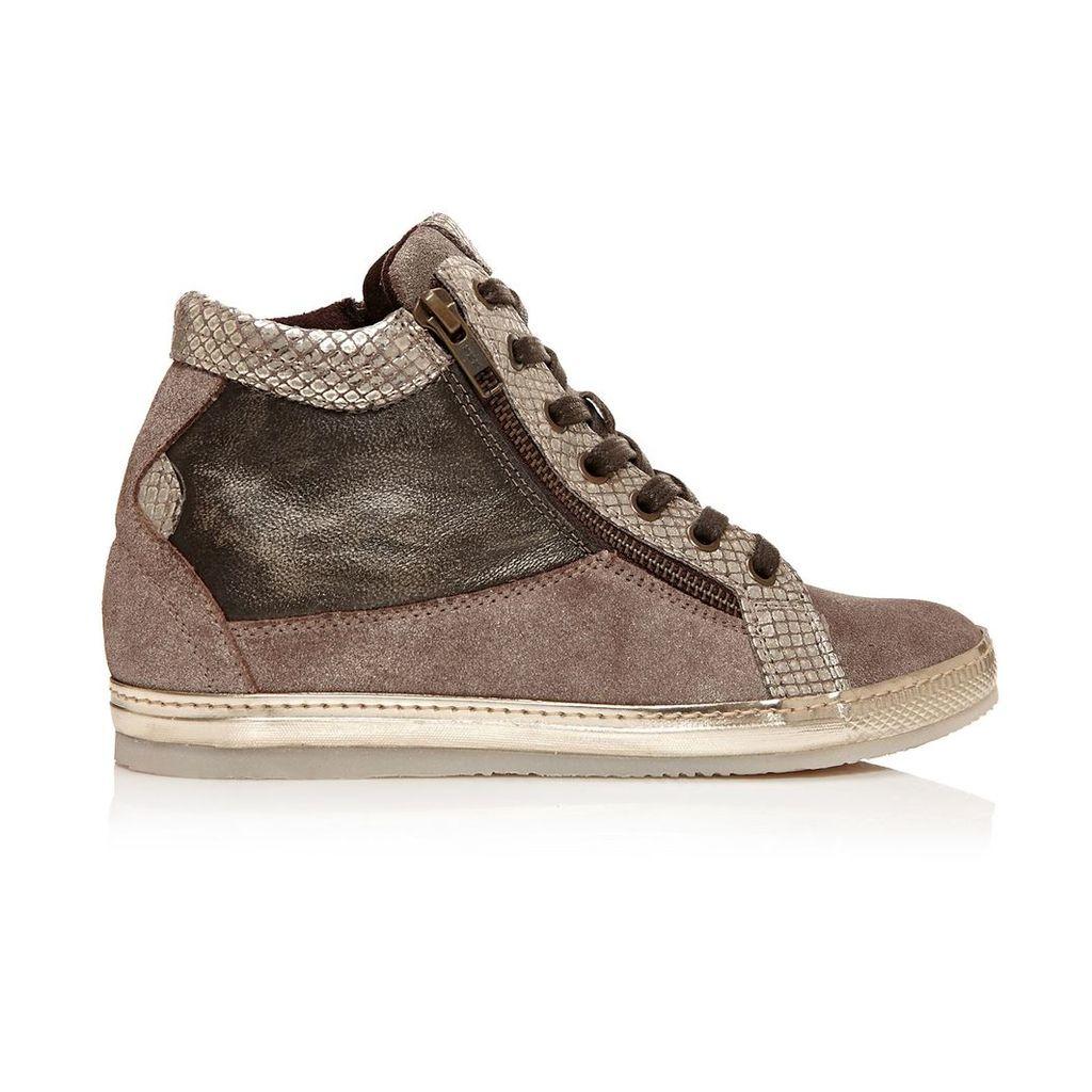 Moda in Pelle Fontro Taupe Medium Casual Short Boots