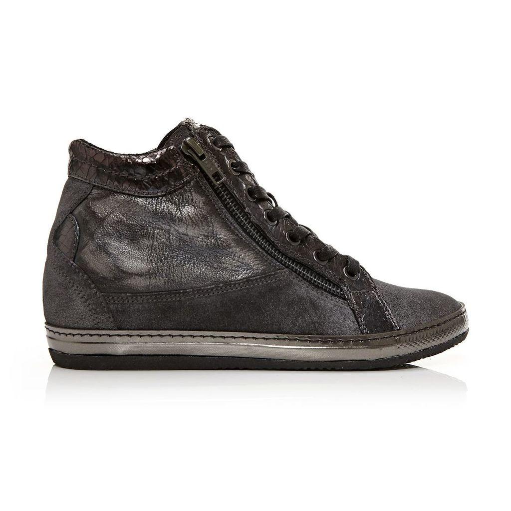 Moda in Pelle Fontro Grey Medium Casual Short Boots