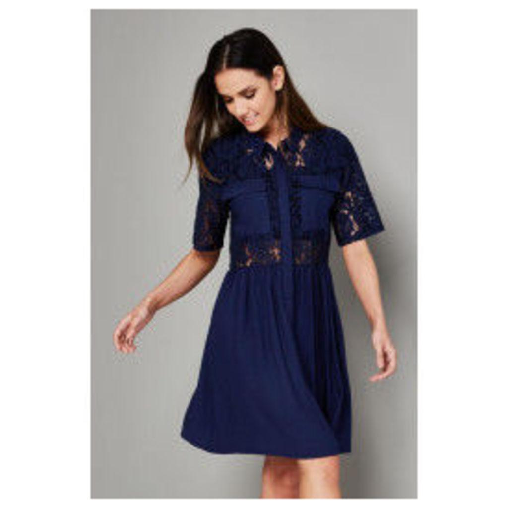 Vero Moda Nynne Lace Day Dress - Blue