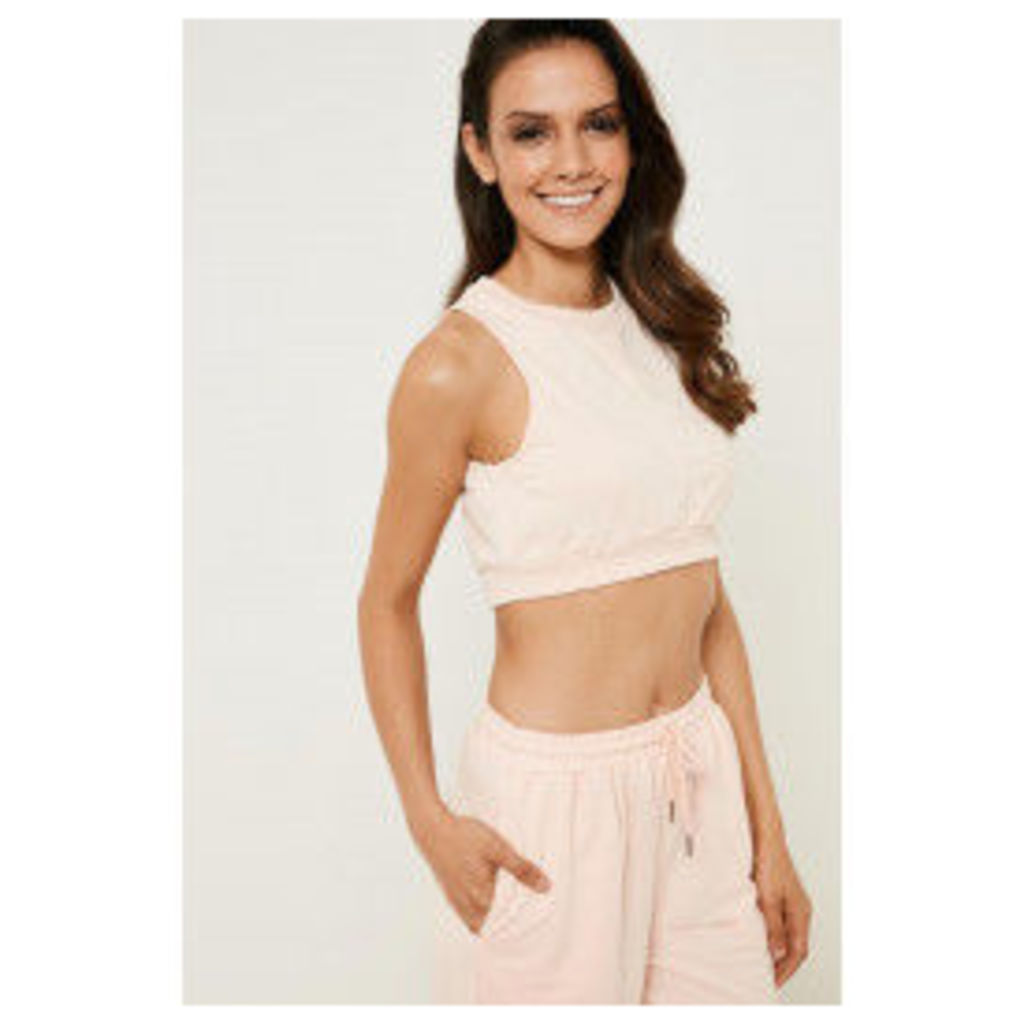 Brand Attic Sleeveless Tracksuit Crop Top - Pink