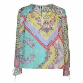 Just Cavalli Long Sleeve Multi Pattern Blouse