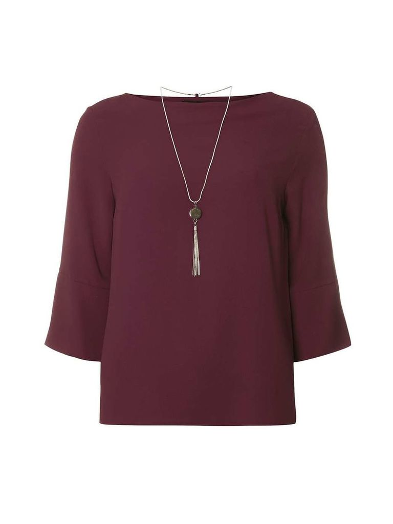 Womens Purple Chain Top- Purple