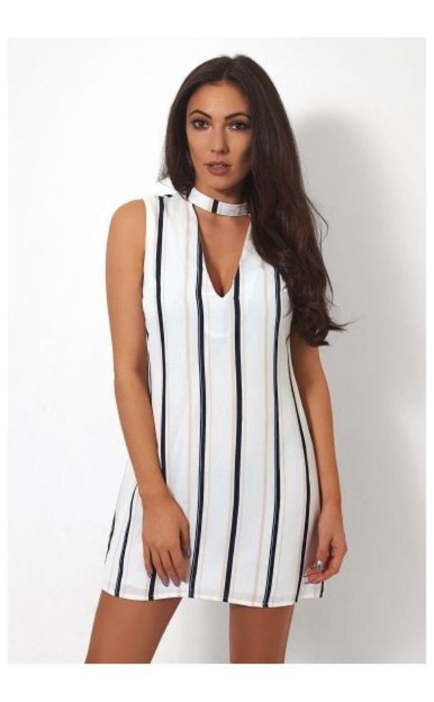Stripe Choker Dress