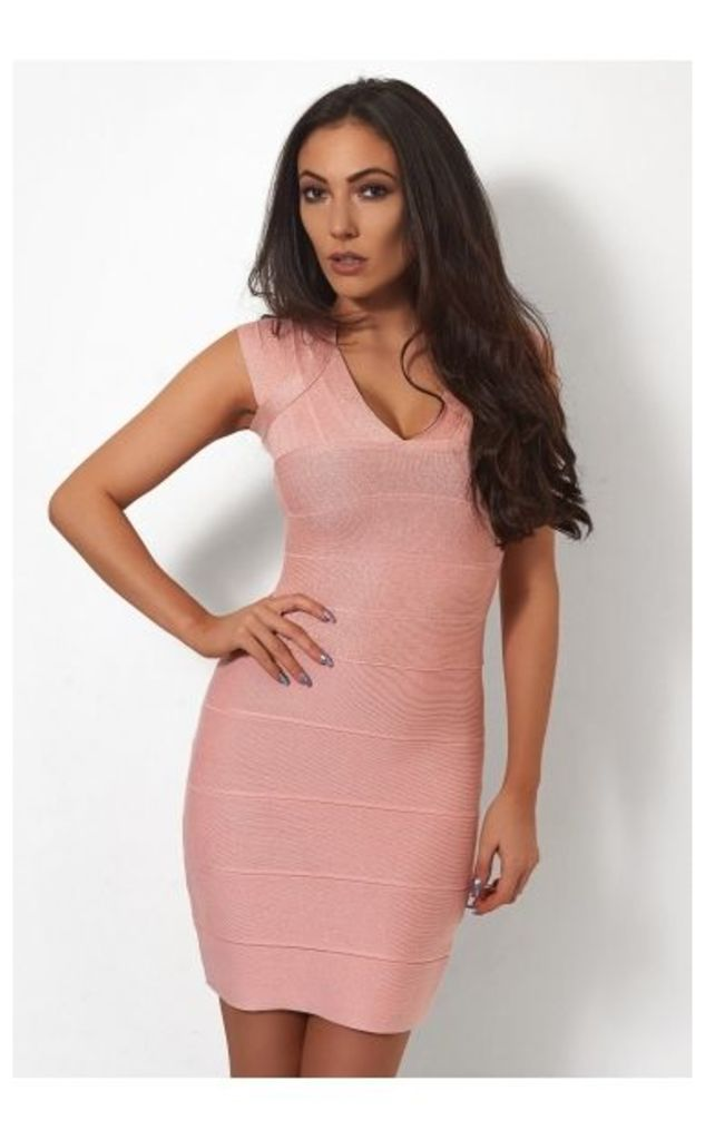 Pink Sparkle Bandage Dress