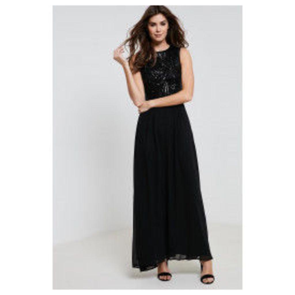 AX Paris Sequin Top Maxi Dress - Black