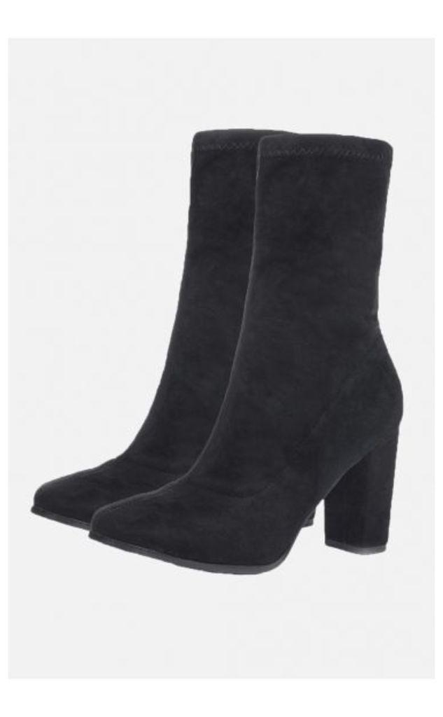 Denver Black Suede Sock Boots