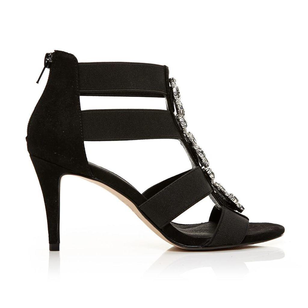 Moda in Pelle Moriah Black High Occasion Sandals