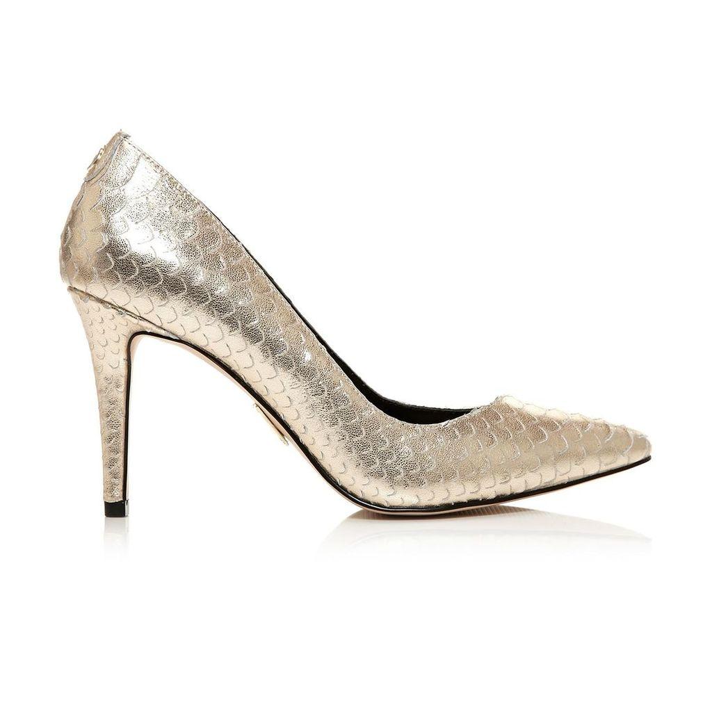 Moda in Pelle Carloni Gold High Smart Shoes
