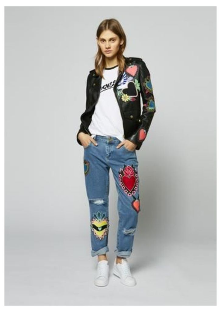 Heart Boyfriend Jeans