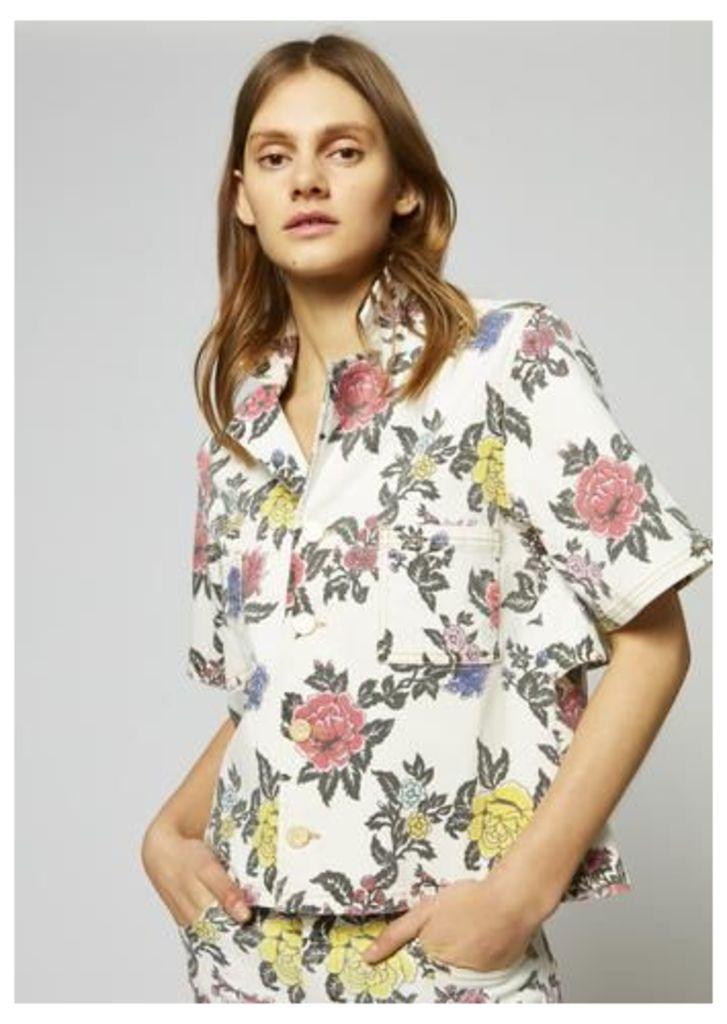 Denim Rose Shirt