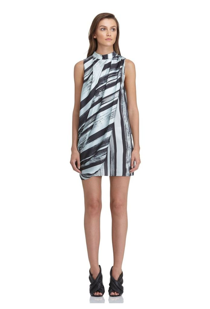 Dalton Draped Mini Dress - Massow Print