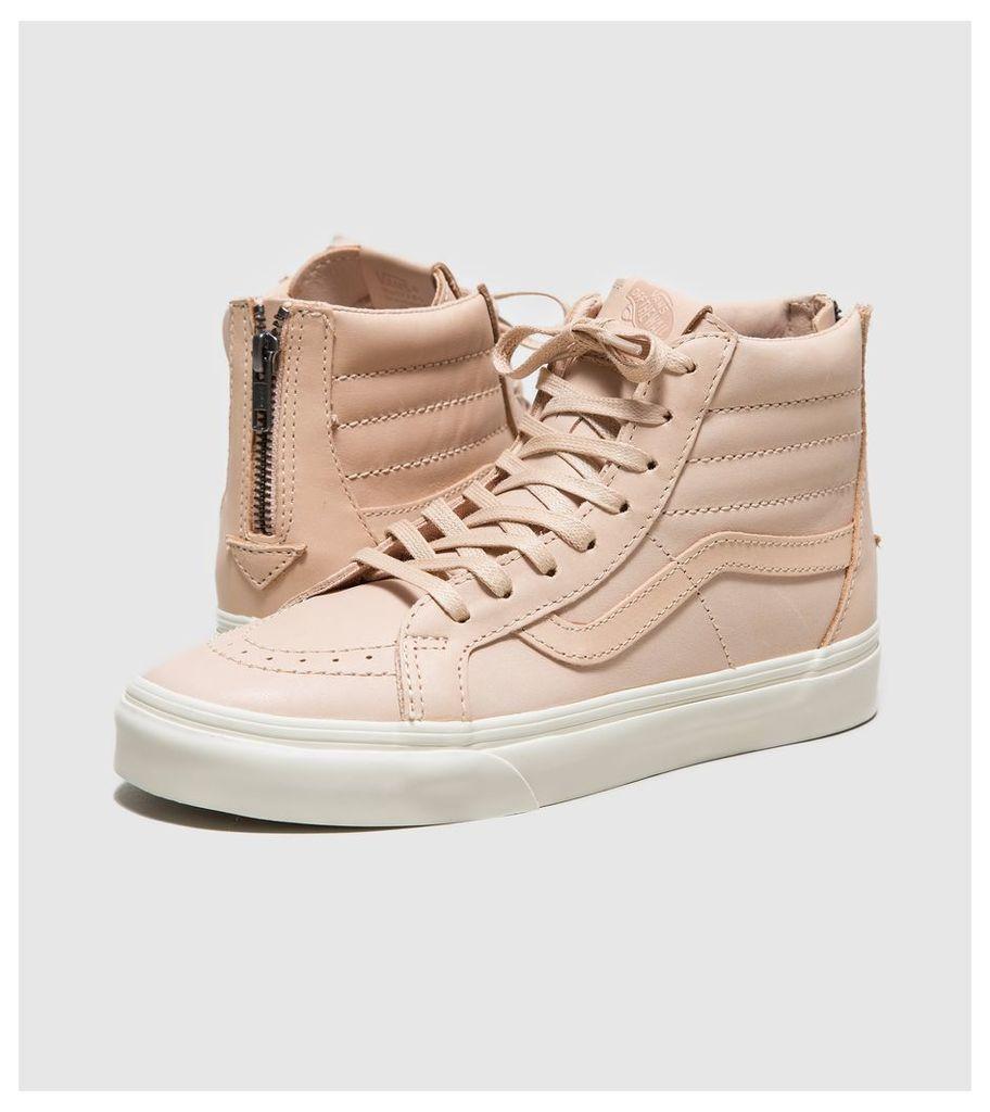 Vans Sk8-Hi Zip DX Veg Tan Leather Women's, Pink