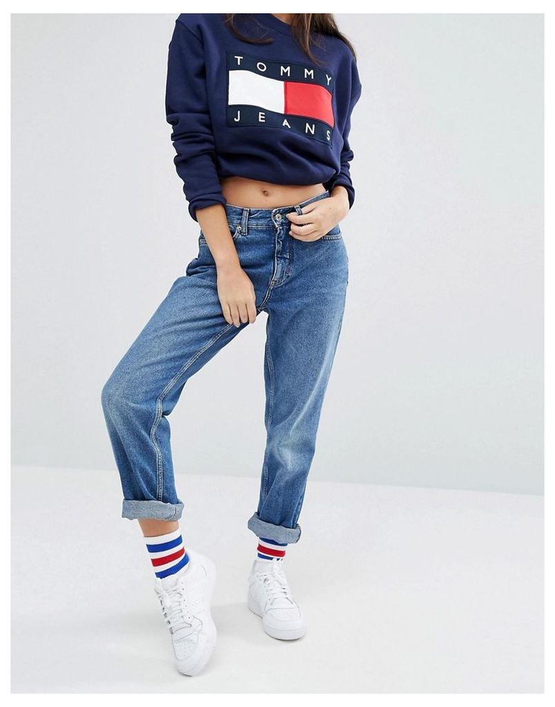 Tommy Jeans Mom Jeans - Rich blue