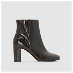 OLYMPE Heeled Leather Ankle Boots