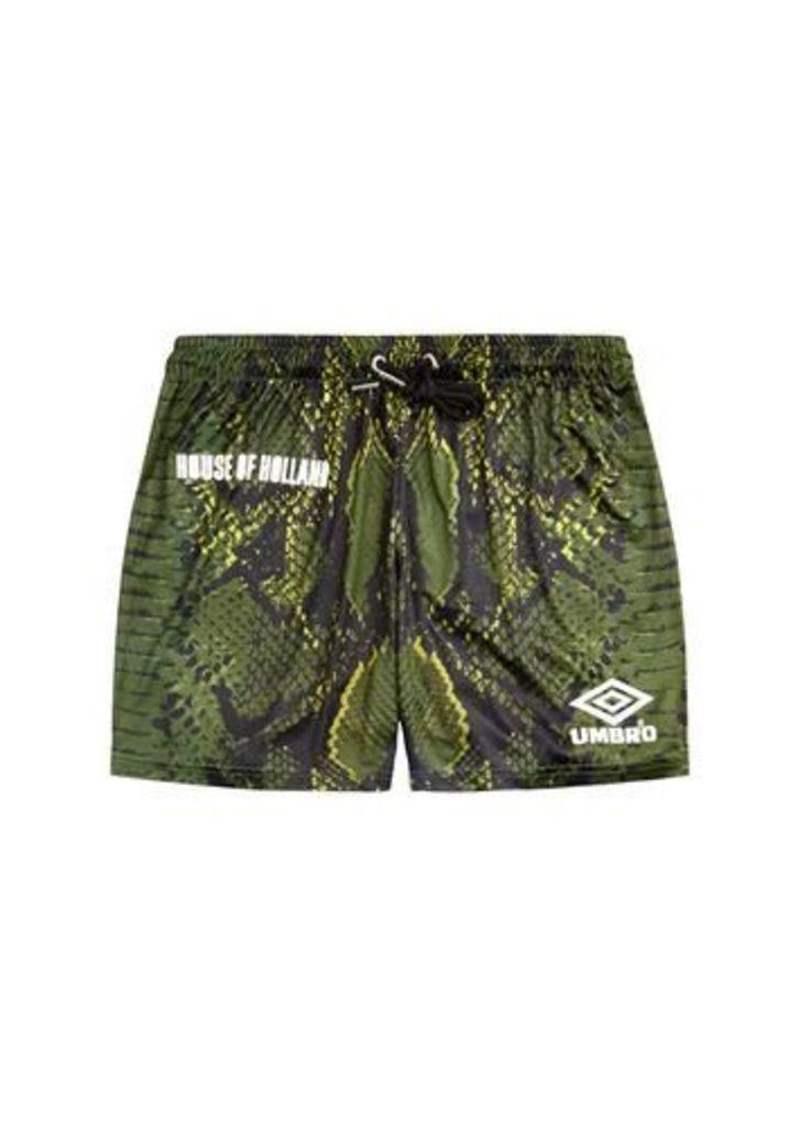 Umbro Snake Print Swim Shorts (Green)