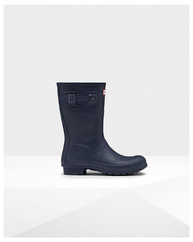 Women's Original Short Wave Texture Wellington Boots