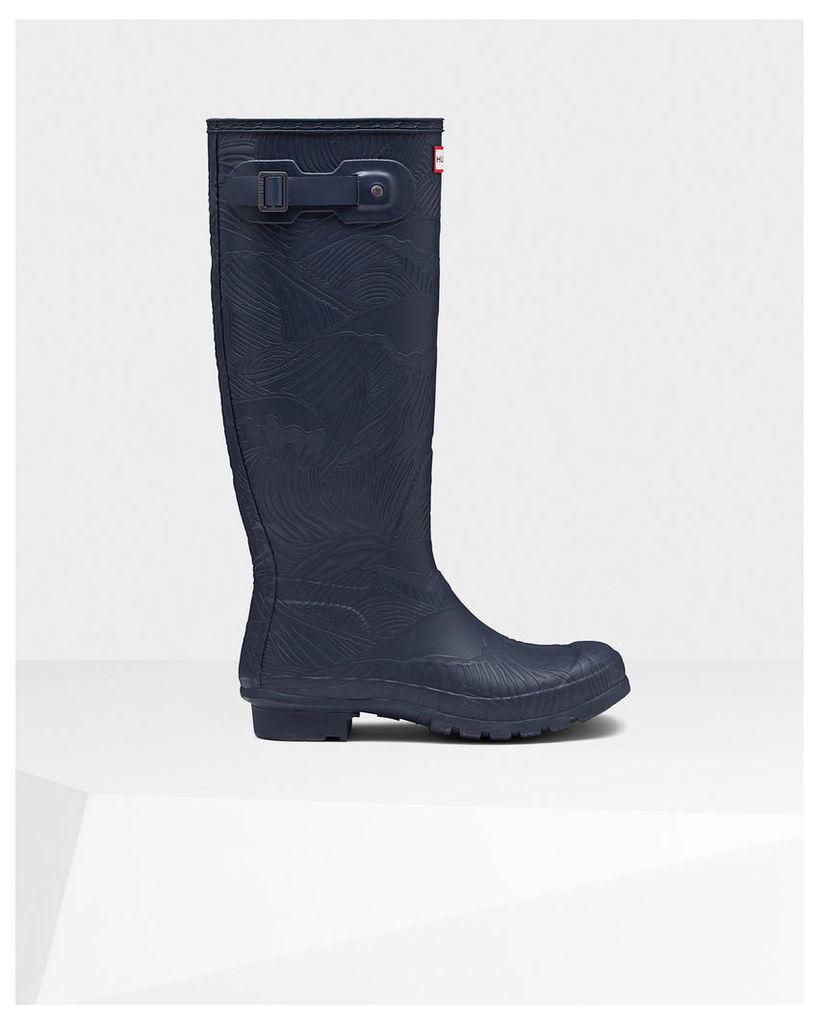 Women's Original Tall Wave Texture Wellington Boots