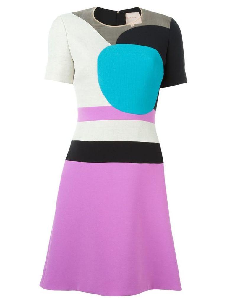 Roksanda panelled colour block dress, Women's, Size: 10, Nude/Neutrals