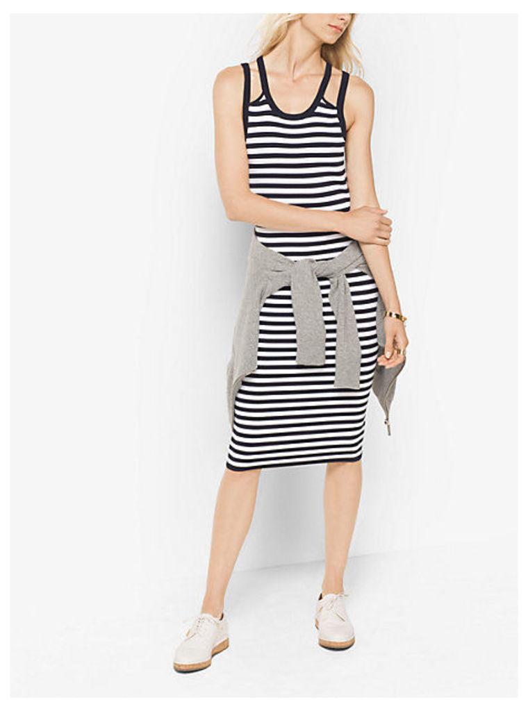 Striped Viscose/nylon Tank Dress