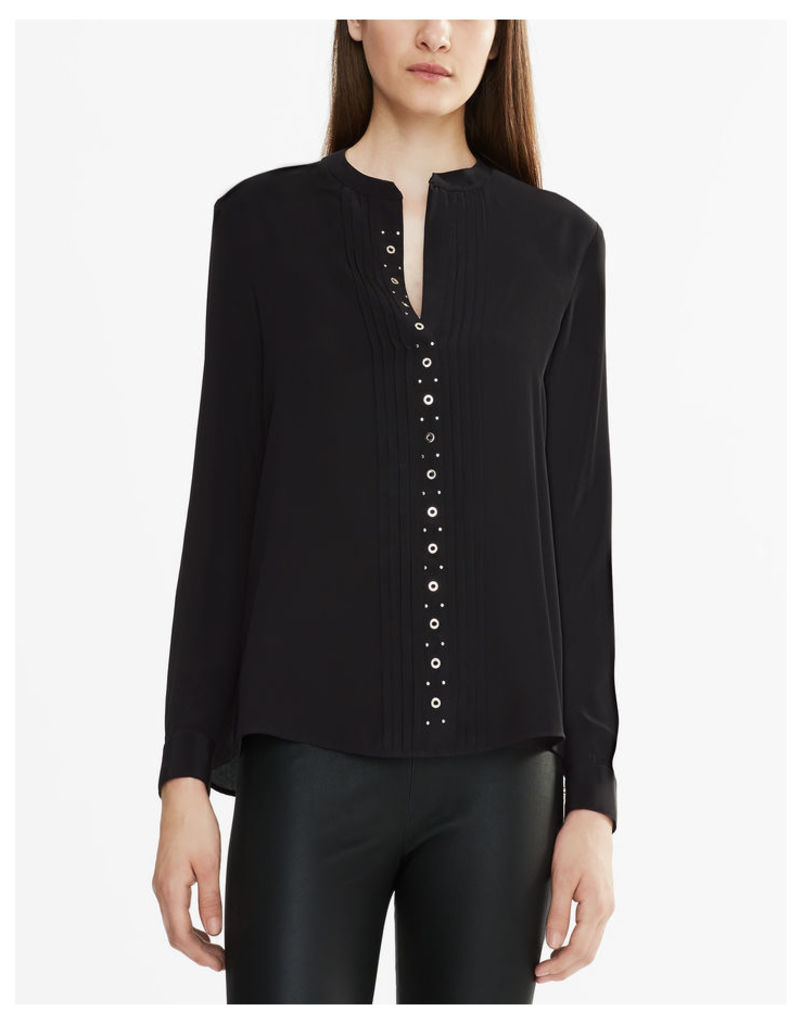 Belstaff Becca Collarless Shirt Black