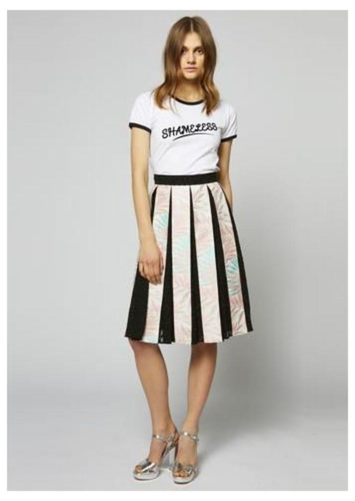 Palm Leaf Pleated Skirt