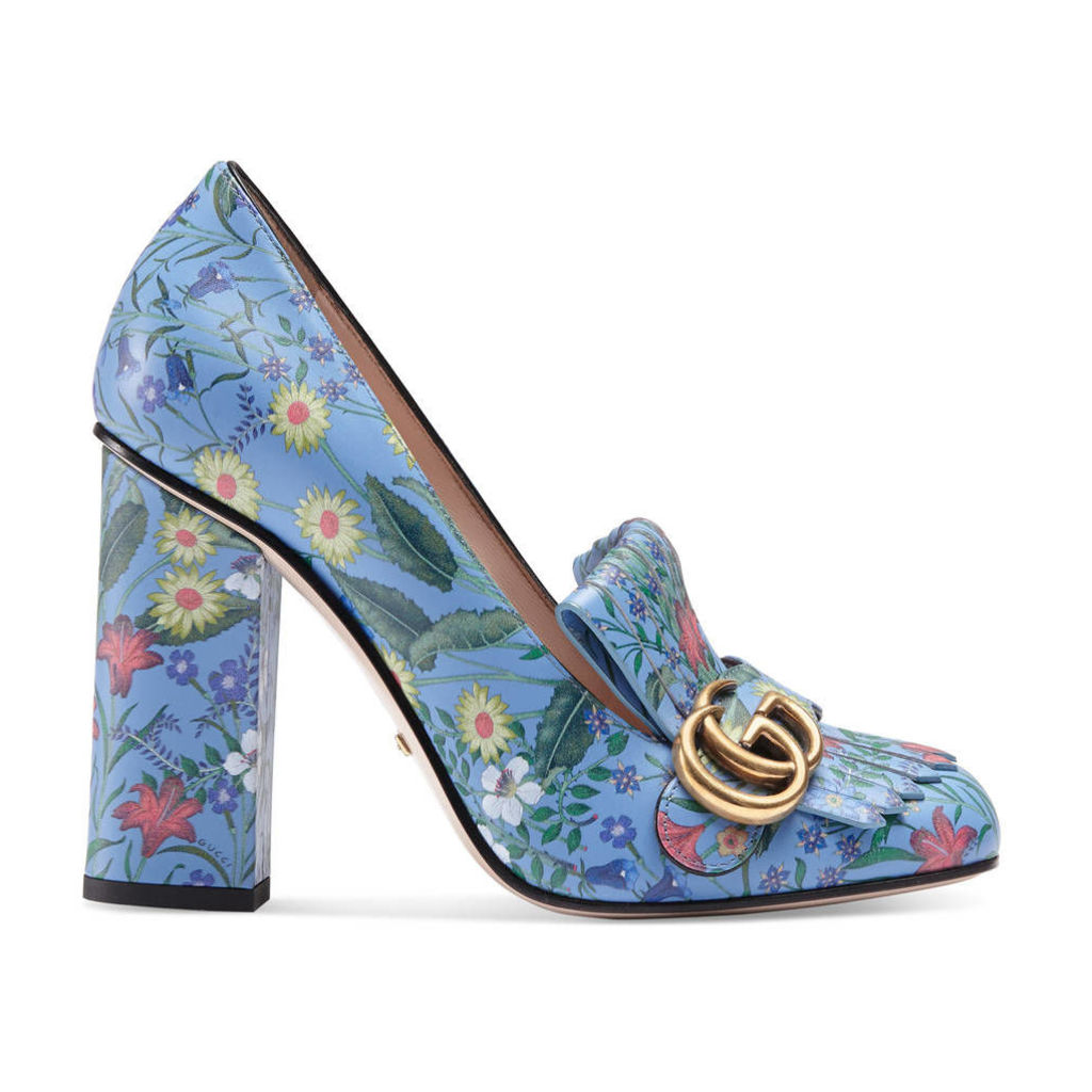 New Flora leather pump