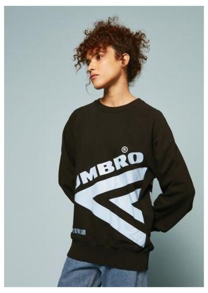 Umbro Diamond Side Rib Sweatshirt (Black)
