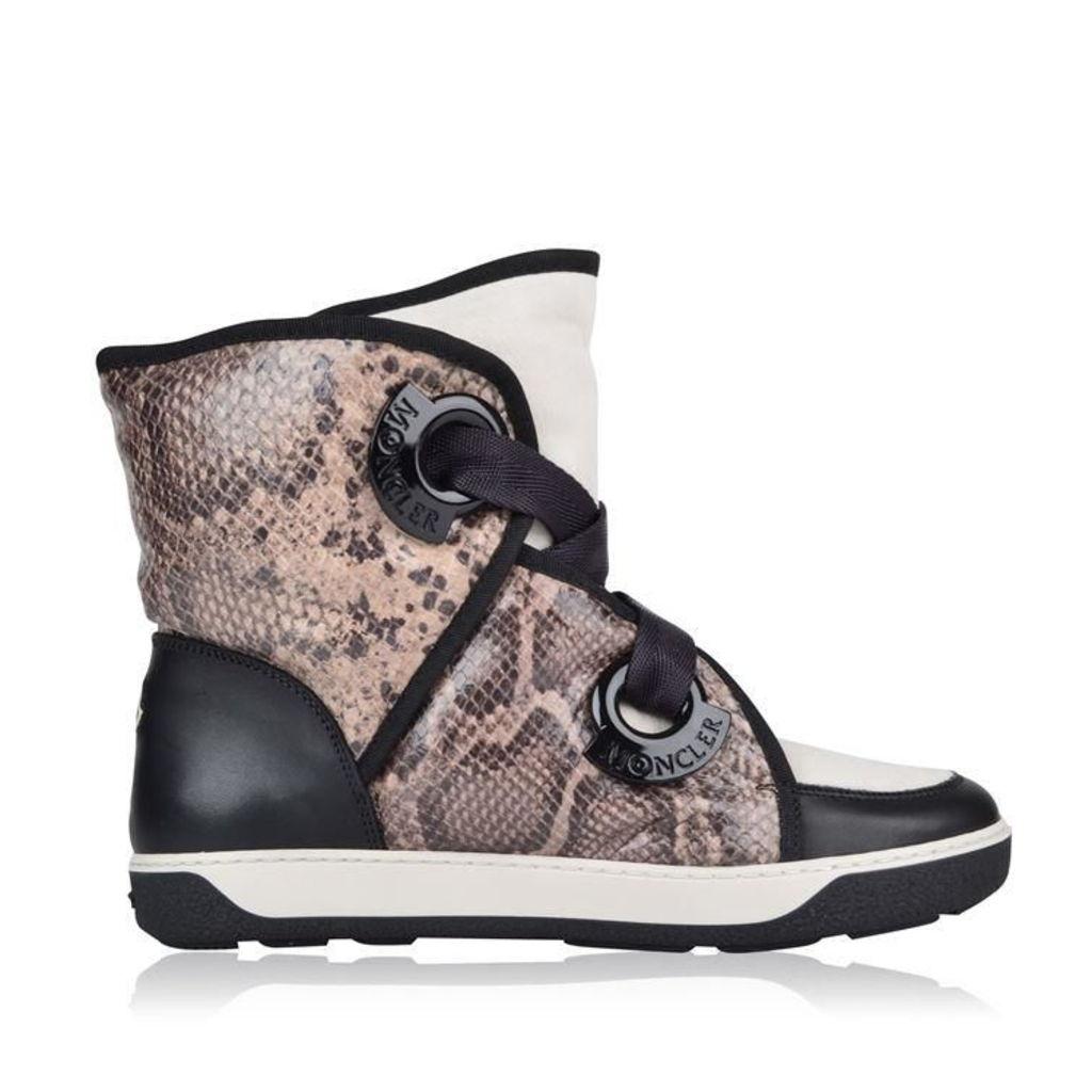 Snakeskin Contrasting Snow Boot