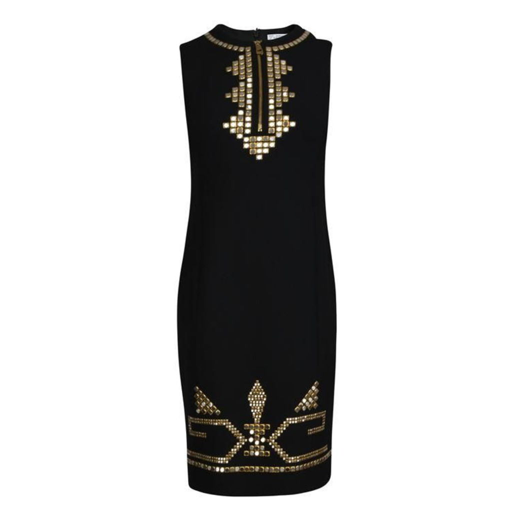 Embellished Zip Dress