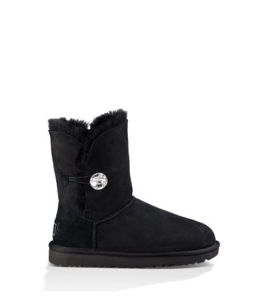 UGG Bailey Button Bling Womens Boots Black 3