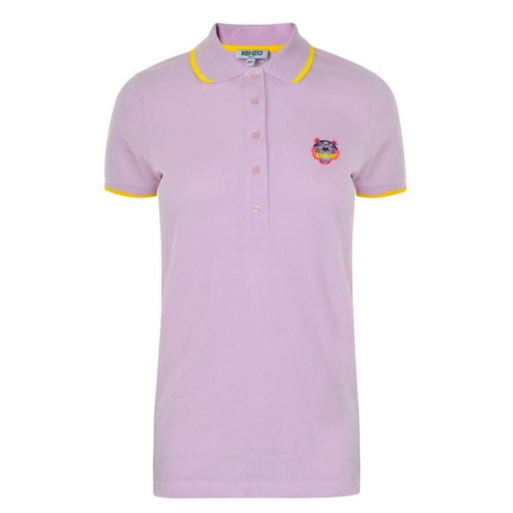 Tiger Head Short Sleeved Polo Shirt
