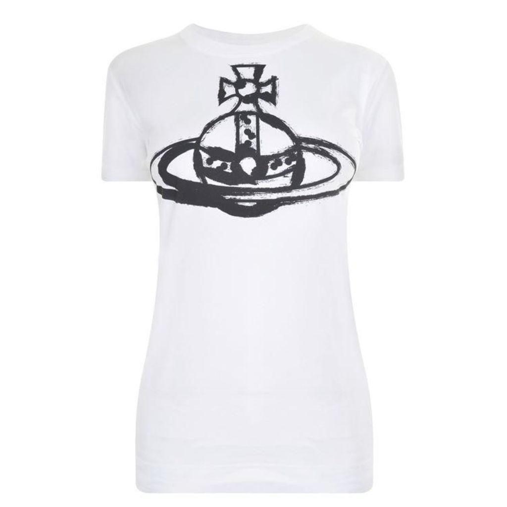 Brushstroke Logo T Shirt