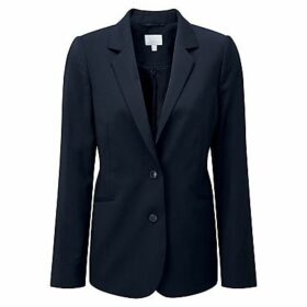 Pure Collection Lydia Wool Blazer, Navy