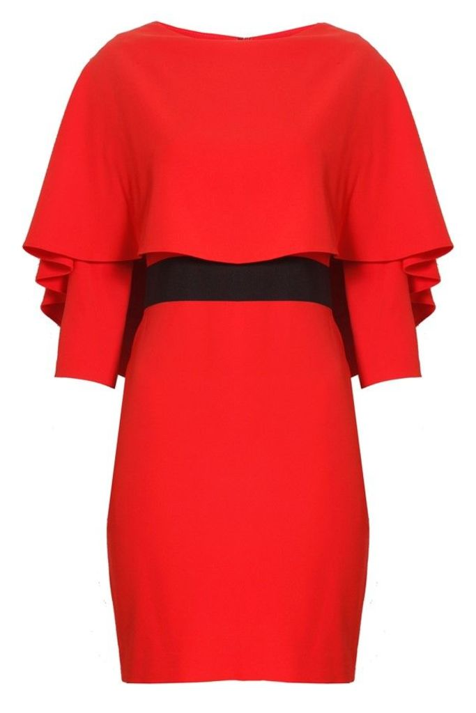 Cairo Fitted Dress Poppy