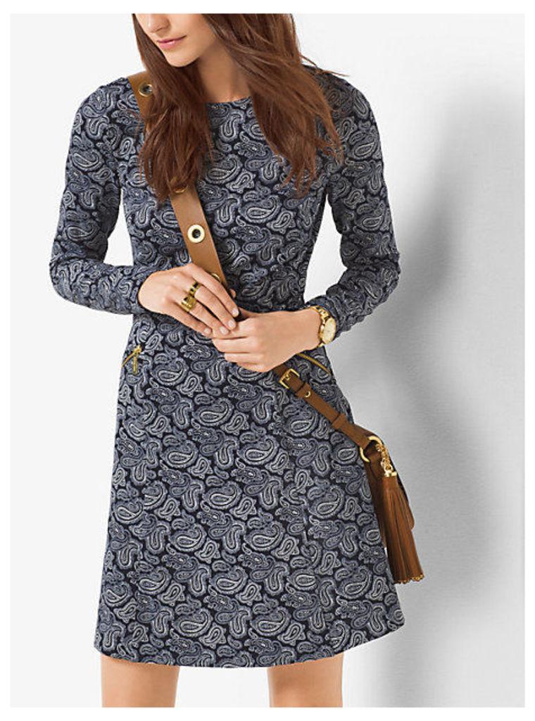 Paisley-Print Ponte Dress