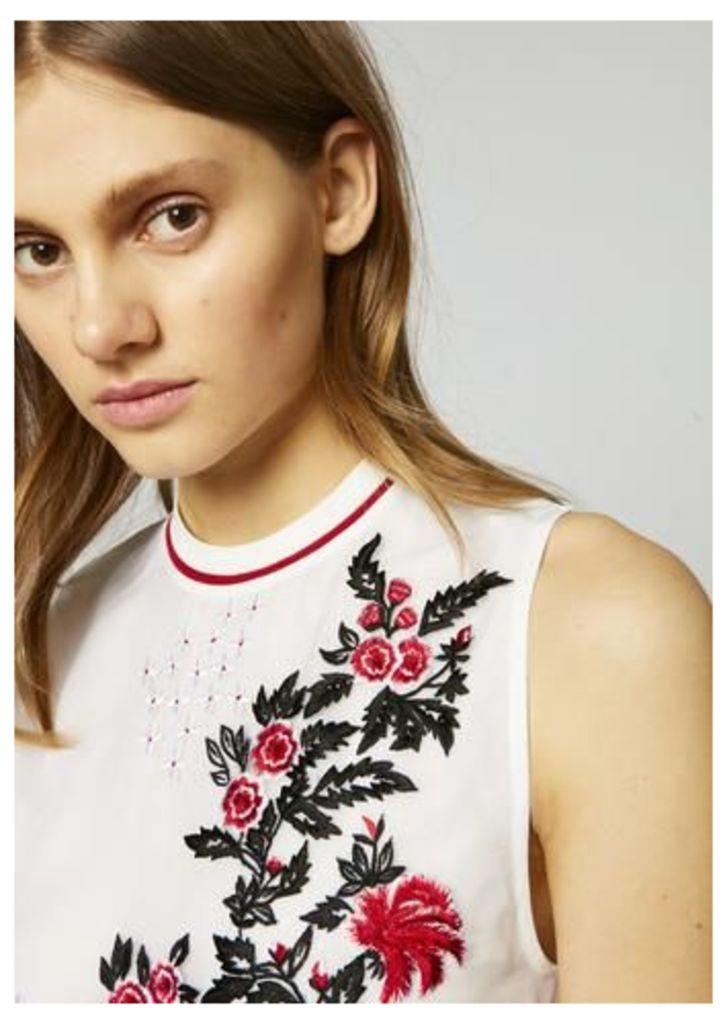 Silk Sheer Rose Top
